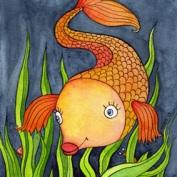 Peix en tinta i aquarel·la