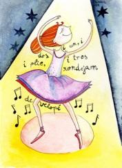 Ballarina en tinta i aquarel·la